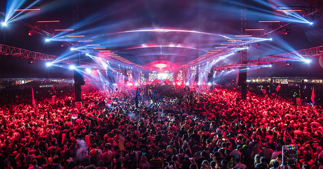 View of the interior of Escape Psycho Circus after buying tickets
