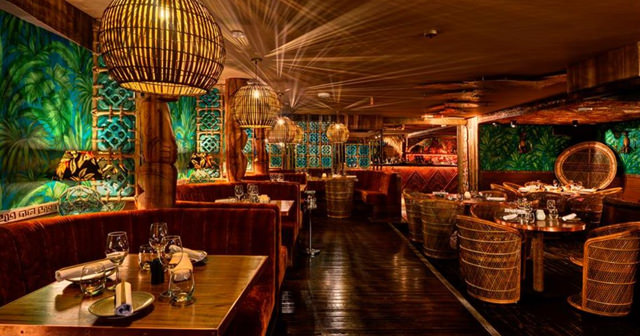 View of the interior of Mahiki Kensington after getting free guest list