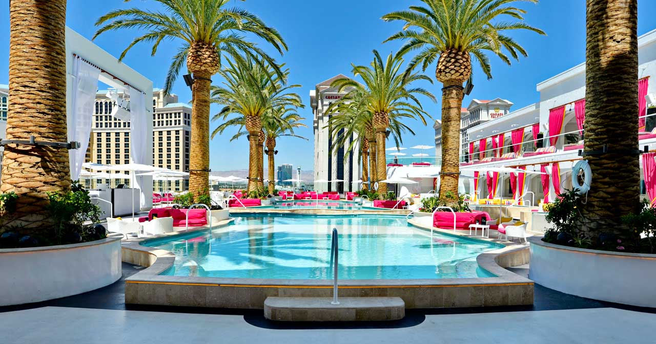 Inside look of Drai's Beach Club with bottle service