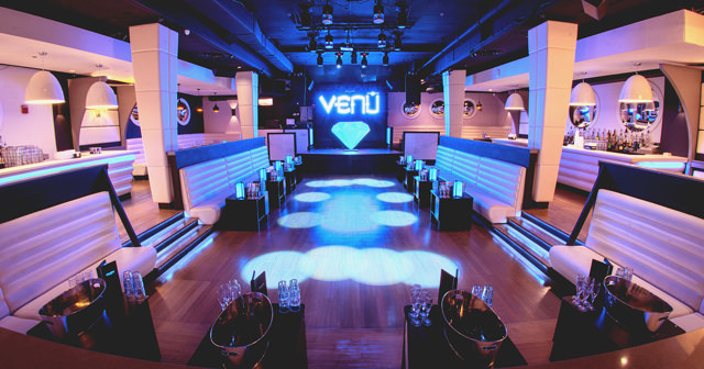 Inside look of Venu with bottle service
