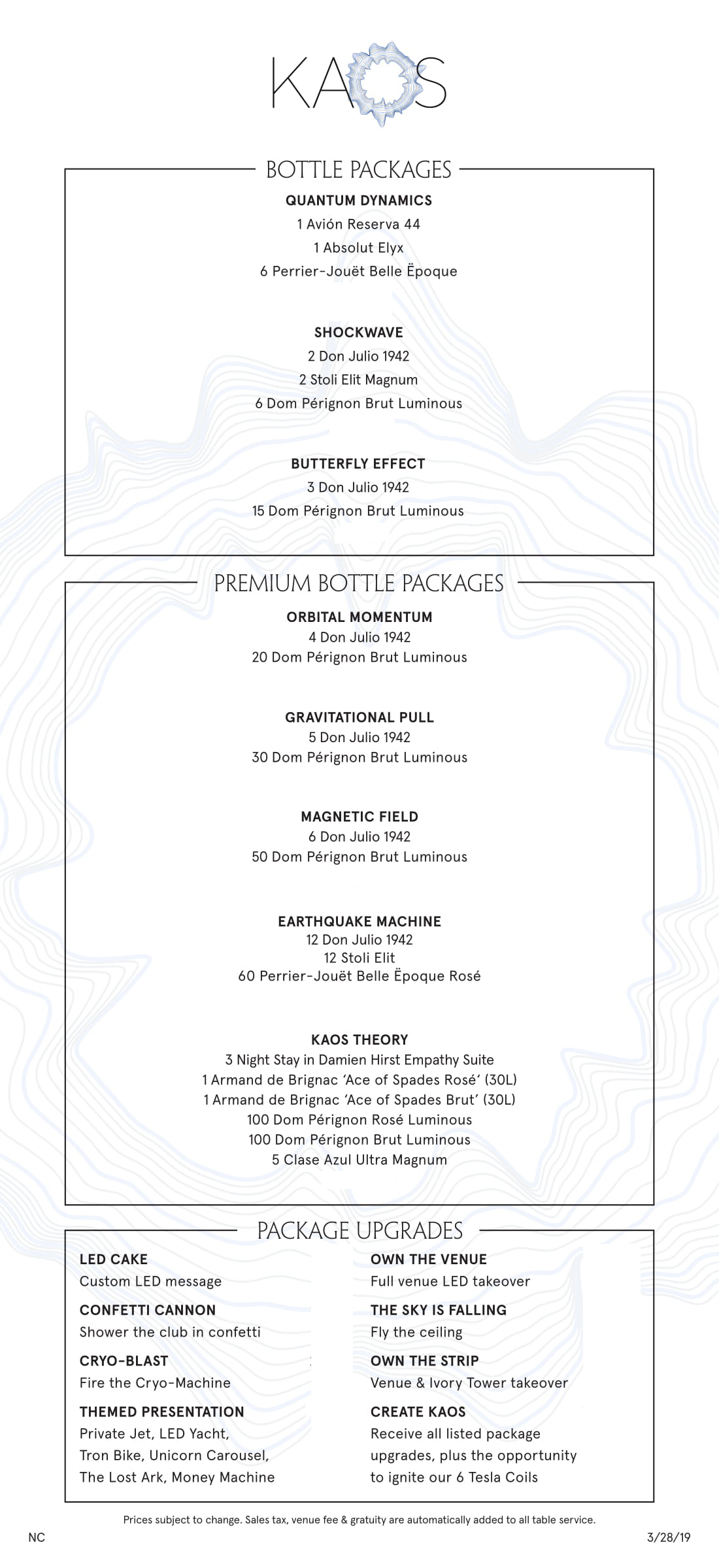 Kaos Nightclub Las Vegas Bottle Service