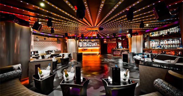 Inside look of Opera Ultra Lounge with bottle service