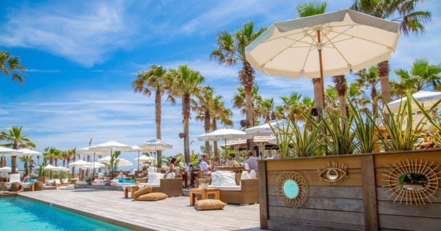 View of the interior of Nikki Beach after buying tickets