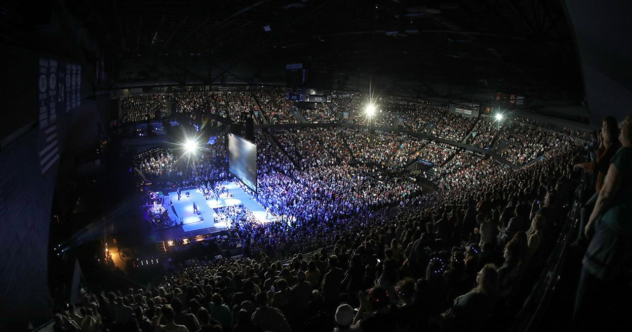 View of the interior of Van Andel Arena after buying tickets