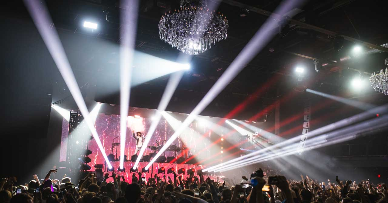 Inside look of The Fillmore with bottle service
