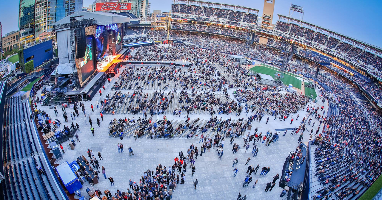Inside look of Petco Park with bottle service