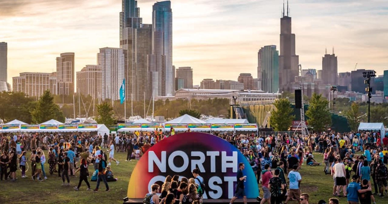 View of the interior of North Coast Music Festival after buying tickets