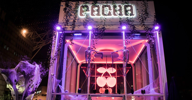 View of the interior of Pacha after buying tickets
