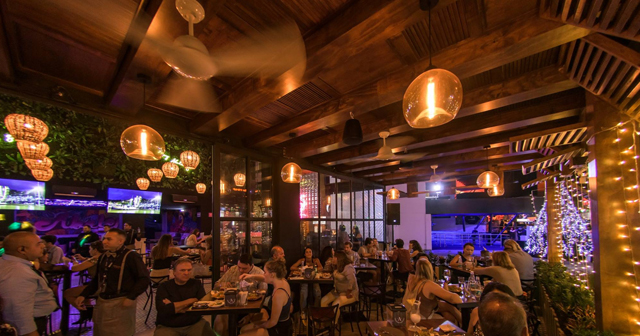 View of the interior of Abolengo after getting free guest list