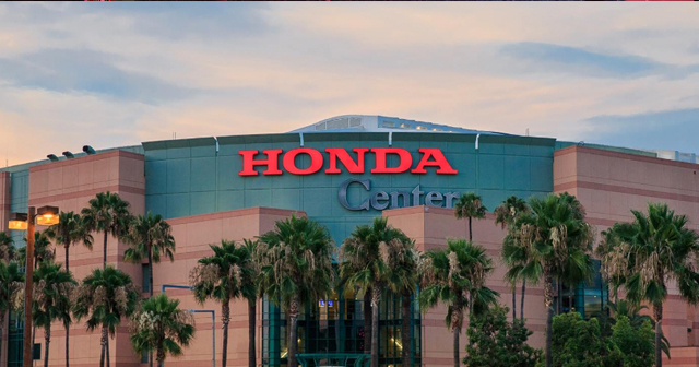 Inside look of Honda Center with bottle service