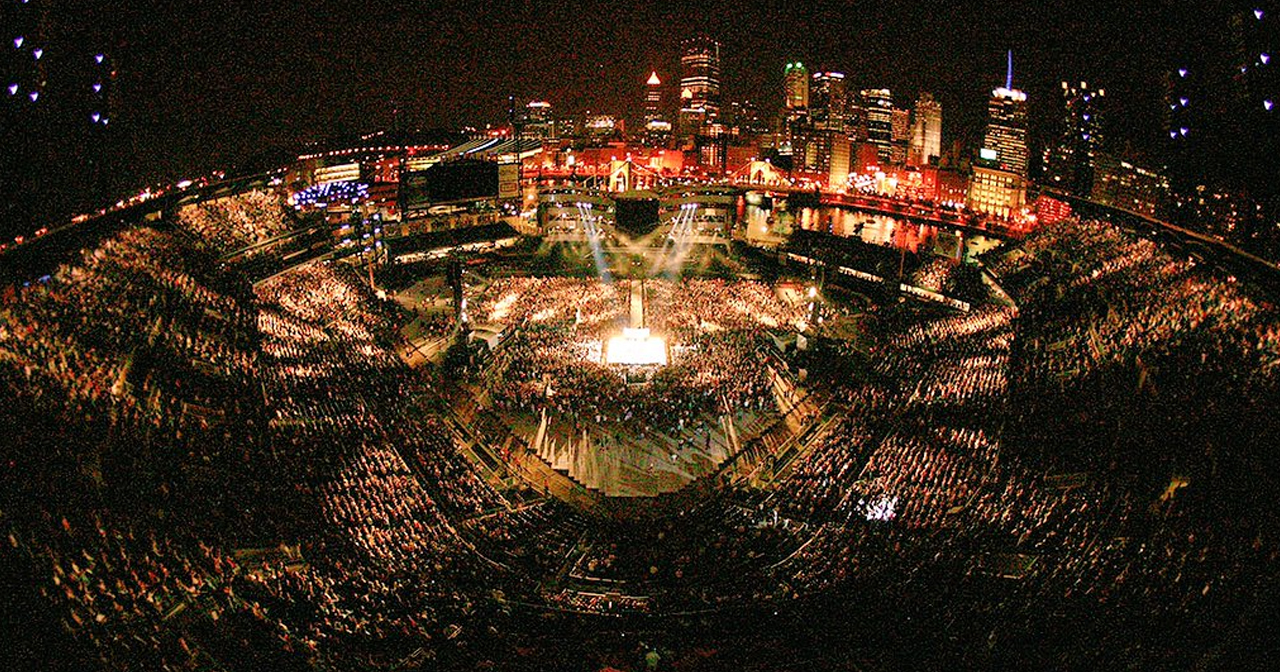 View of the interior of PNC Park after buying tickets