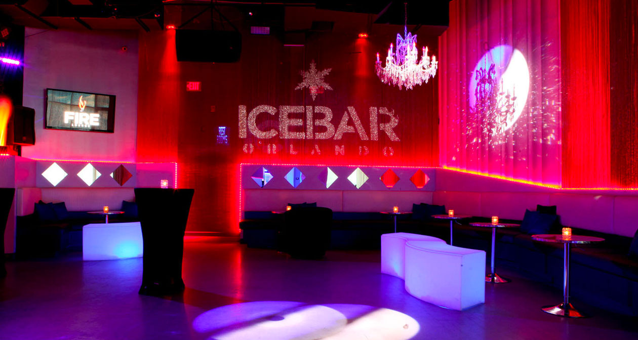 View of the interior of ICEBAR after buying tickets