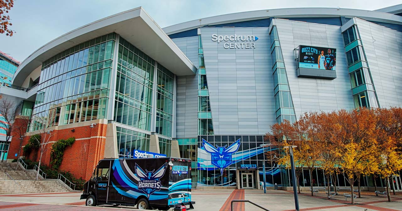 Inside look of Spectrum Center after getting free guest list