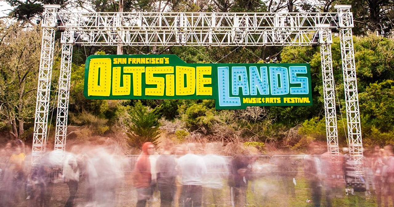 View of the interior of Outside Lands after getting free guest list