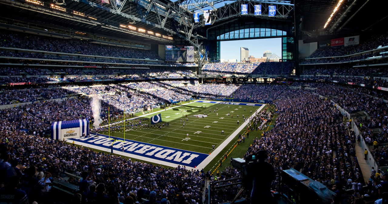 View of the interior of Lucas Oil Stadium after getting free guest list