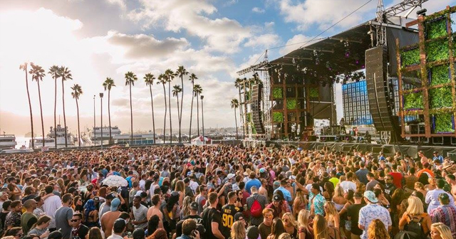 View of the interior of CRSSD Festival after getting free guest list