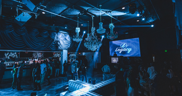 Inside look of Legacy with bottle service