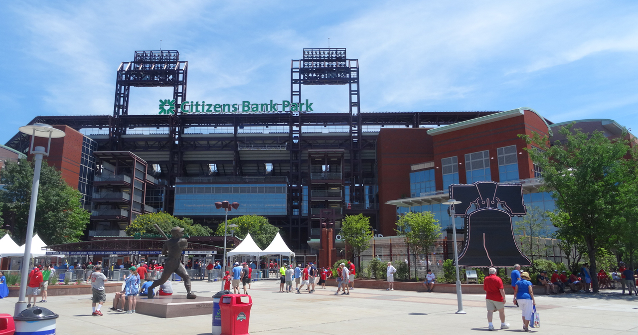 View of the interior of Citizens Bank Park after getting free guest list