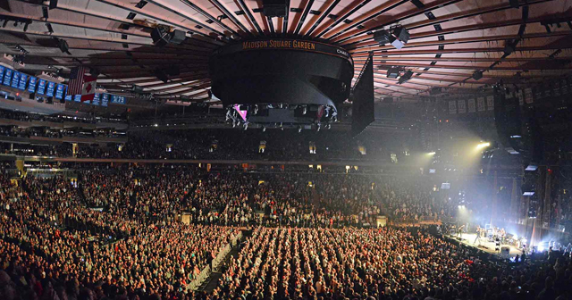 View of the interior of Madison Square Garden