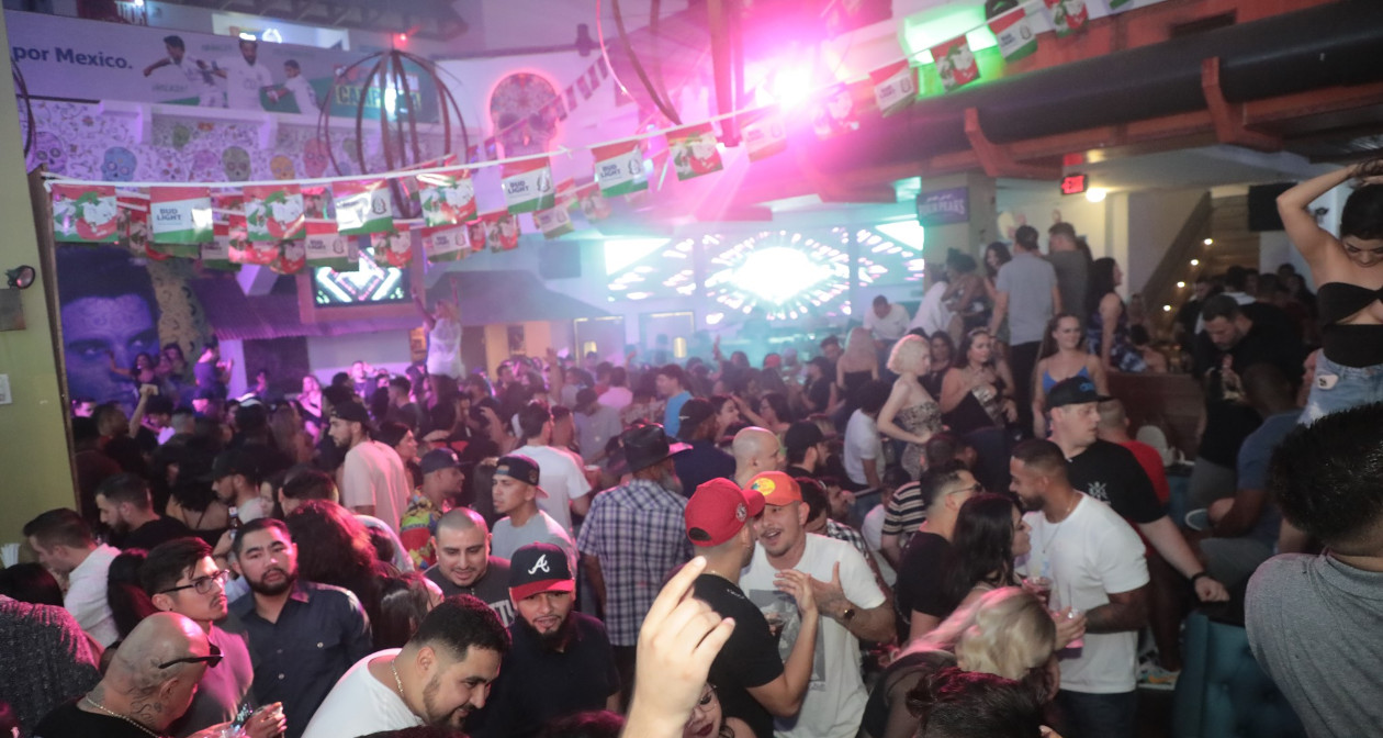 View of the interior of Salt Tacos y Tequila after getting free guest list