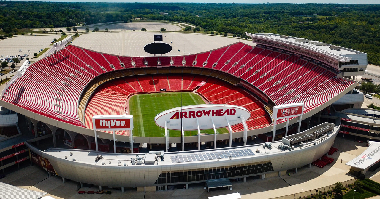 View of the interior of Arrowhead Stadium after getting free guest list