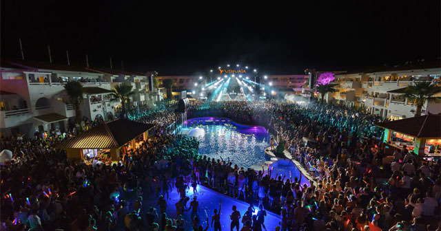 Inside look of Ushuaia Beach Club with bottle service