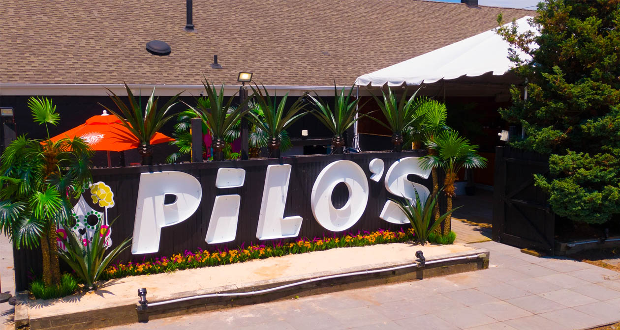 Inside look of Pilo's Beach Club with bottle service