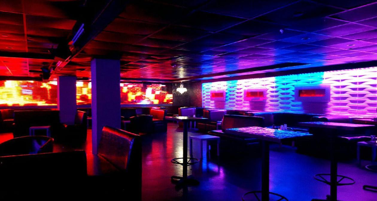 Inside look of Rev Ultra Lounge with bottle service