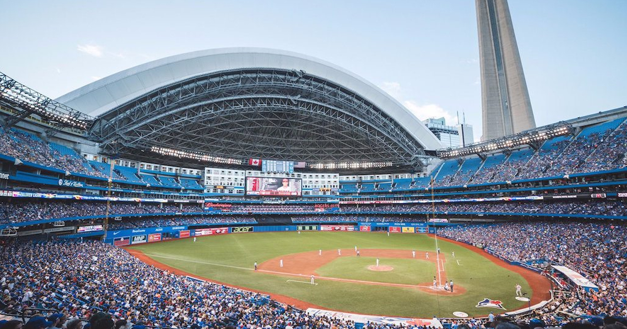View of the interior of Rogers Centre after getting free guest list