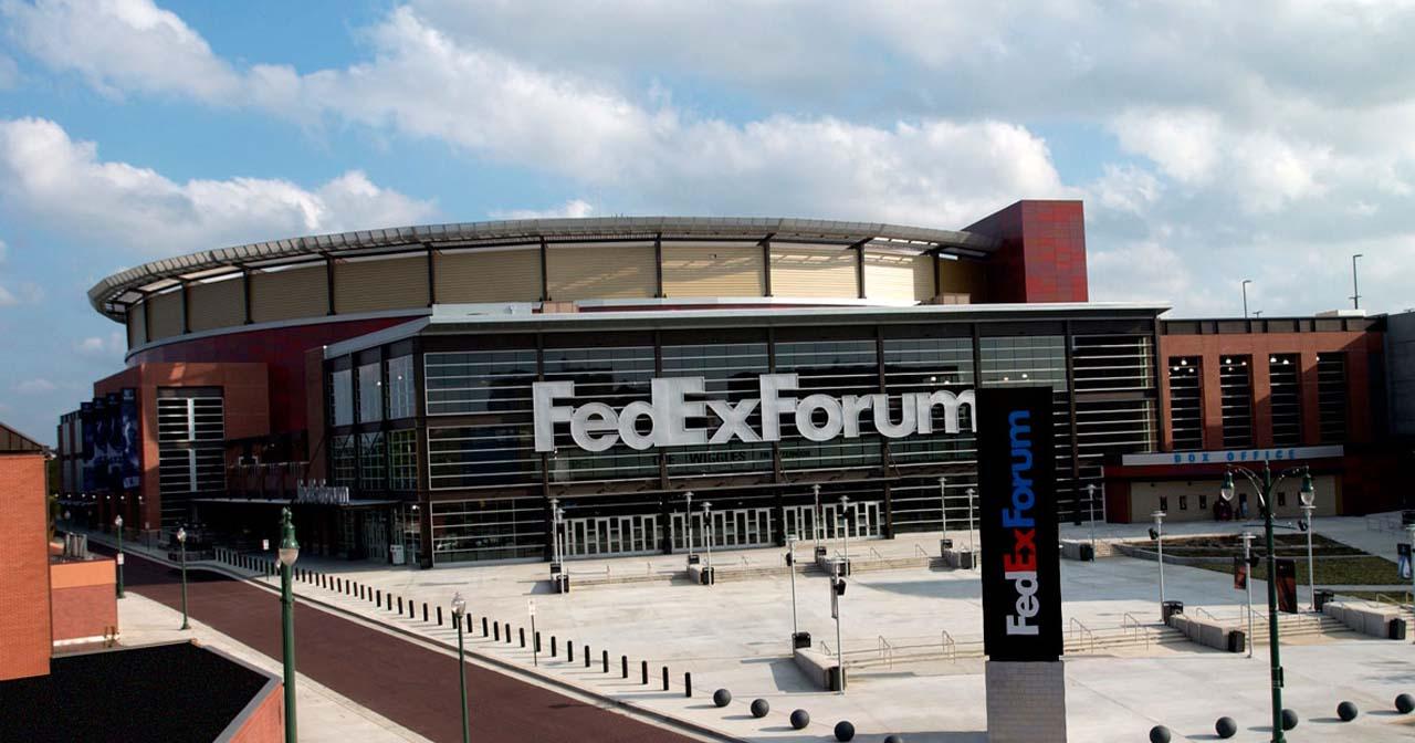 Inside look of FedExForum with bottle service