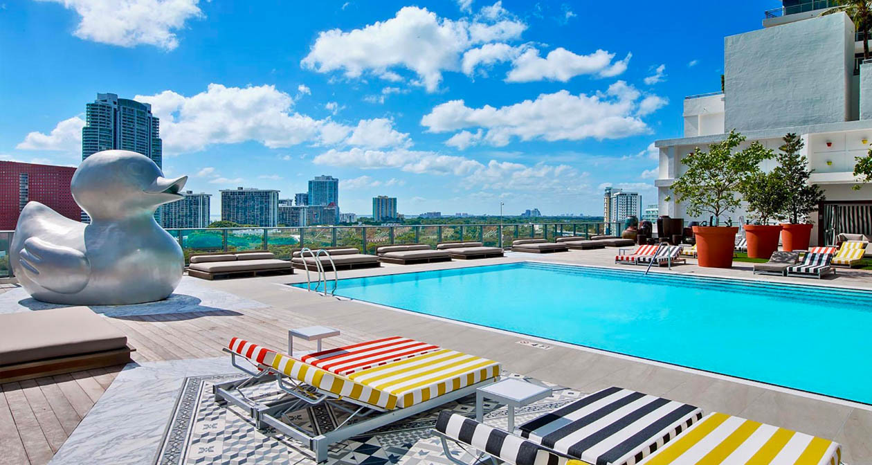 Inside look of Altitude Pool at SLS Brickell after getting free guest list