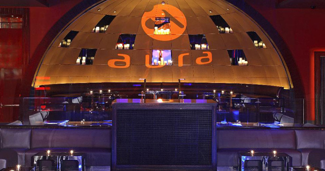 View of the interior of Aura after buying tickets
