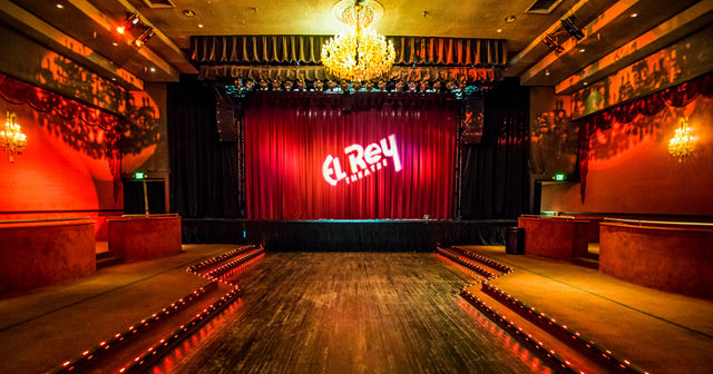View of the interior of El Rey Theatre after buying tickets