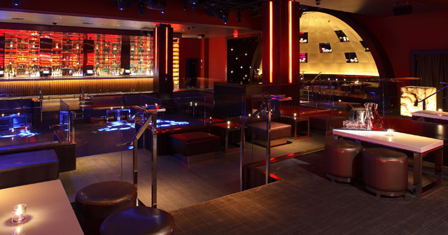 Inside look of Aura with bottle service