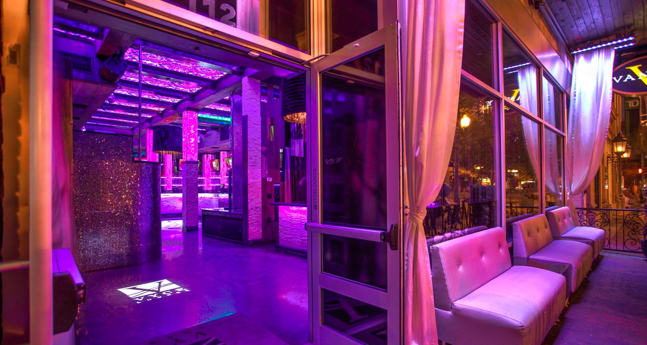 Inside look of Vyce Lounge with bottle service
