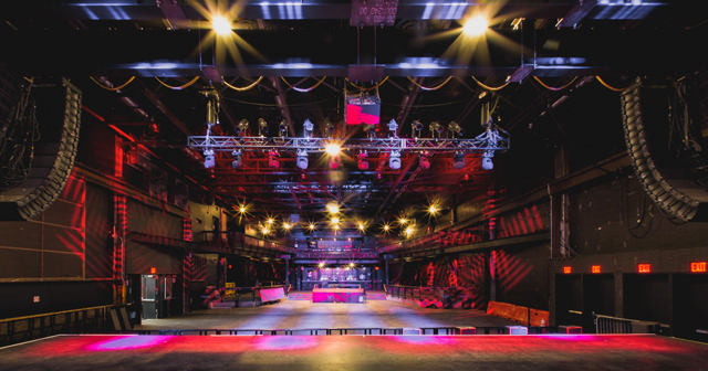 Inside look of Brooklyn Steel with bottle service