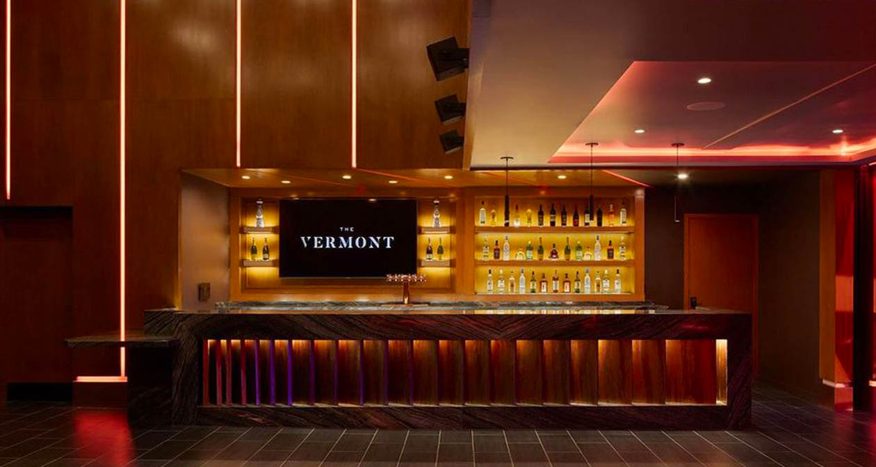 View of the interior of The Vermont Hollywood after buying tickets