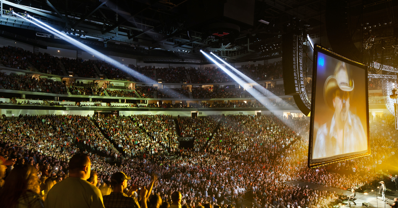 View of the interior of Pinnacle Bank Arena after buying tickets