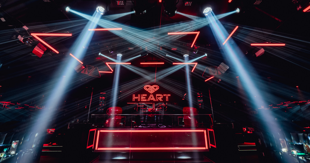 View of the interior of Heart after getting free guest list