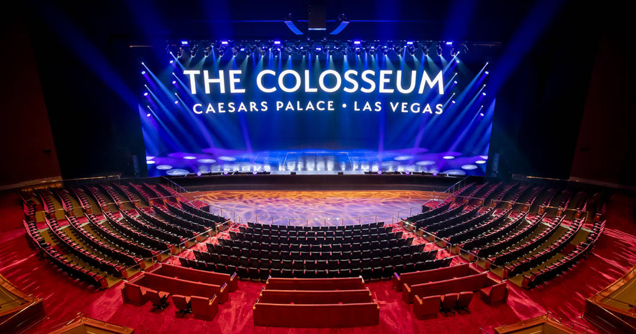 View of the interior of The Colosseum at Caesar's Palace after getting free guest list
