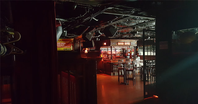 View of the interior of Skully's after buying tickets