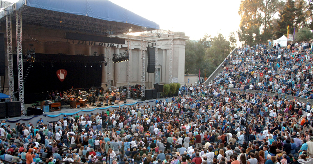 View of the interior of Greek Theatre after buying tickets