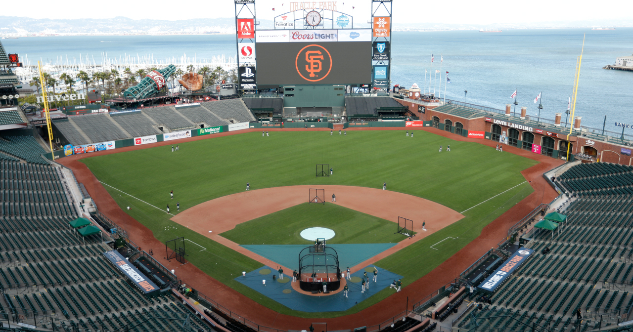 View of the interior of Oracle Park