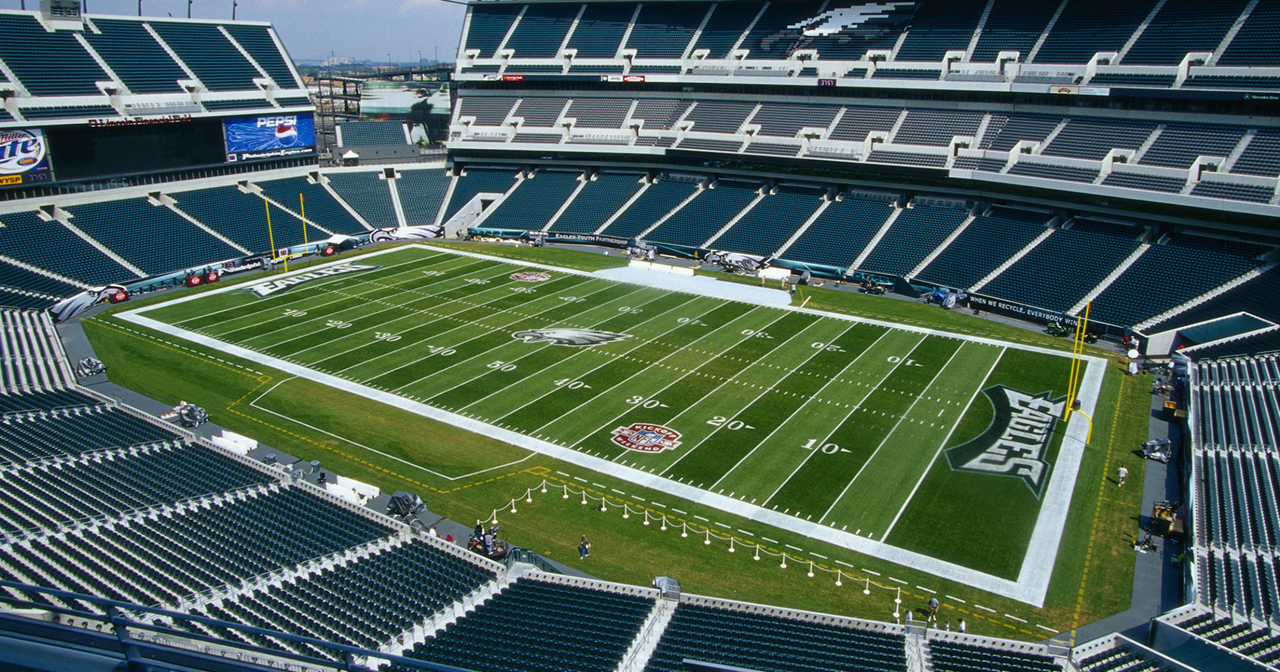 View of the interior of Lincoln Financial Field after buying tickets