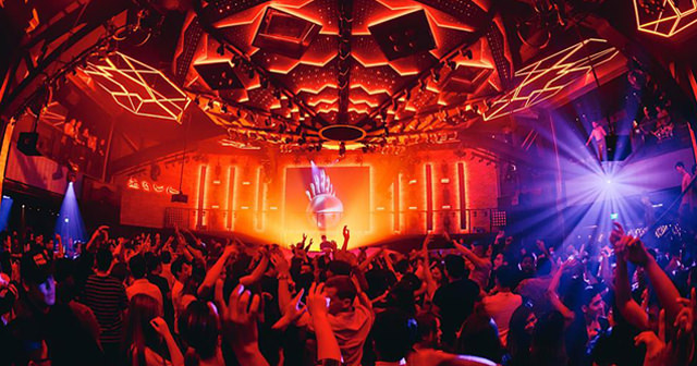 View of the interior of Zouk after buying tickets
