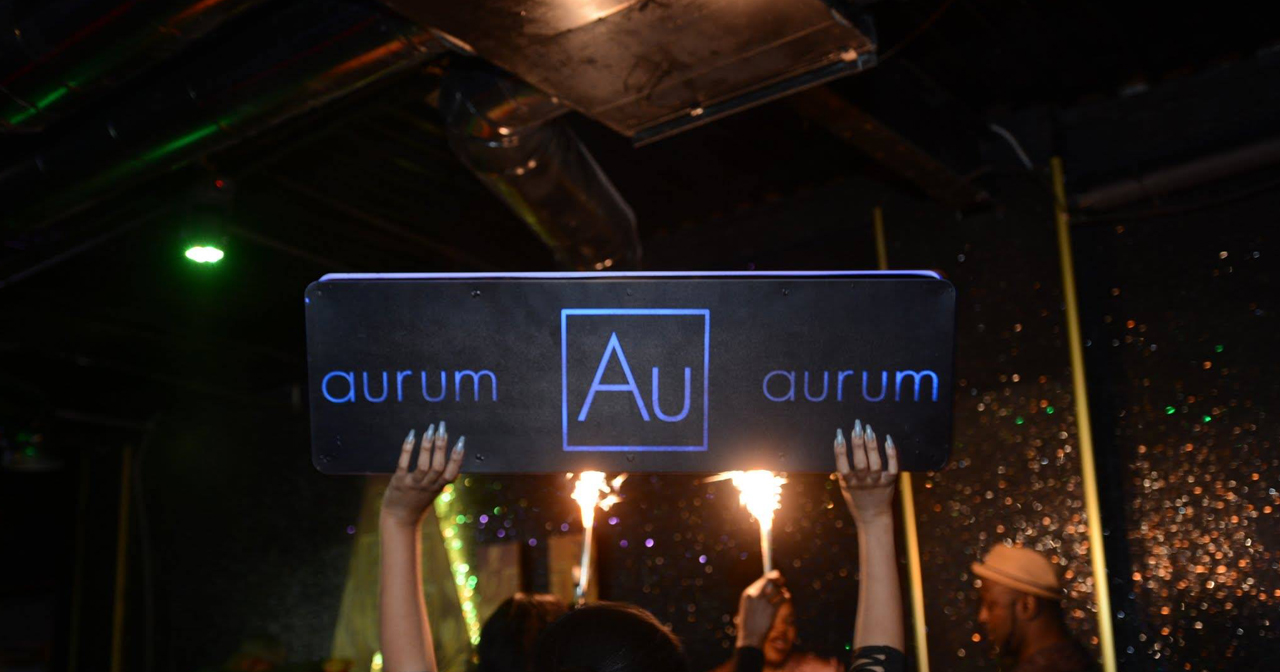 View of the interior of Aurum after getting free guest list