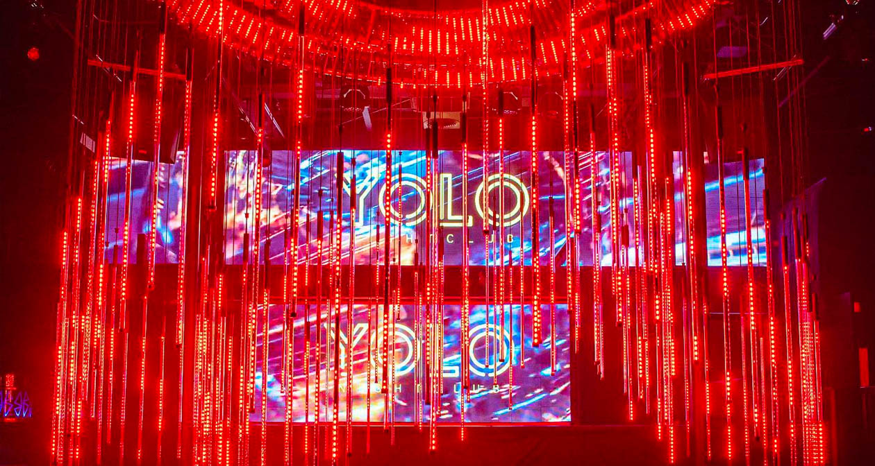 View of the interior of YOLO Nightclub after buying tickets