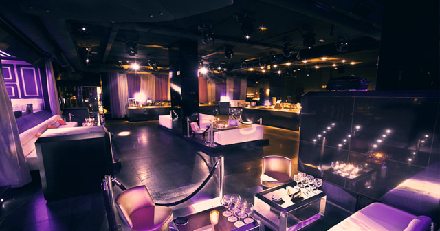 View of the interior of Opium after getting free guest list