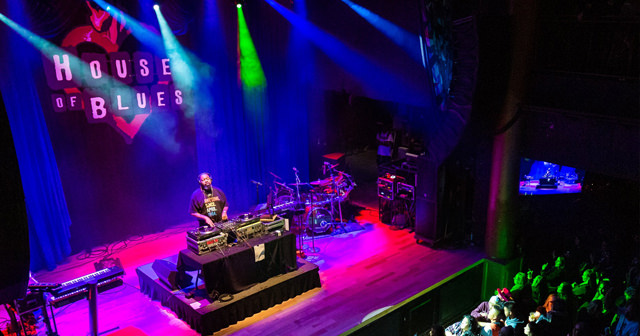 View of the interior of House of Blues after buying tickets