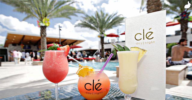 Inside look of Clé Dayclub with bottle service